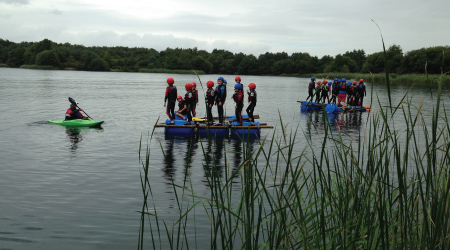 Raft Building Party